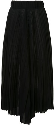 Dusan Wool Voile Pleated Trousers