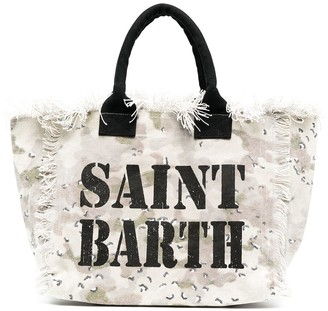 MC2 Saint Barth Desert camouflage print beach bag