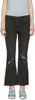 Rag & Bone Black Crop Flare Jeans