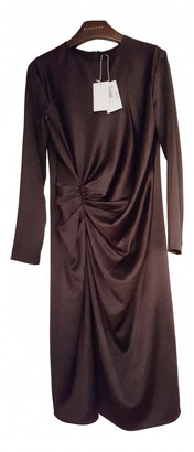 Helmut Lang Brown Silk Dresses