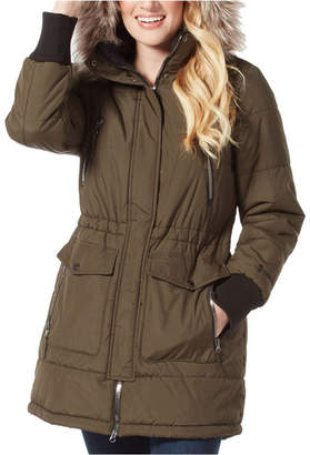 Free Country Long Jacket with Faux Fur Hood