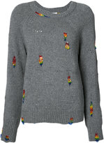 Marc Jacobs embroidered sweater - women - Plastic/Polyester/Cashmere/Wool - M