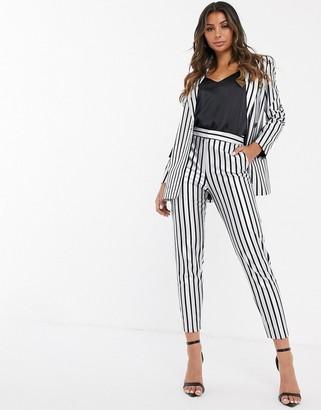 Asos DESIGN metallic stripe suit pants