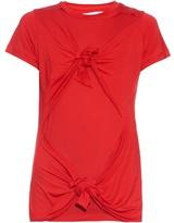 Marques Almeida MARQUES'ALMEIDA Slashed-knotted short-sleeved T-shirt