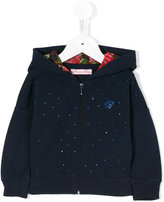 Miss Blumarine embellished hooded jacket
