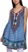 Jessica Taylor Women's Tunics ROYAL - Royal Blue Geometric Tunic - Women & Plus