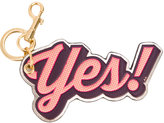 Anya Hindmarch Yes keyring - women - Leather/metal - One Size