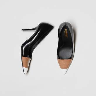 Burberry Tape Detail Leather Pumps