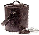Ricci Argentieri Leather-Trimmed Ice Bucket Set