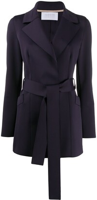 Harris Wharf London Plain Belted Blazer