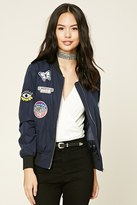 Forever 21 FOREVER 21+ Route 66 Patched Bomber Jacket