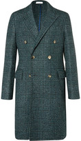 Boglioli - Double-breasted Prince Of Wales Checked Wool-blend Bouclé Coat