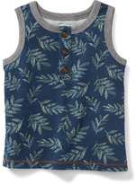 Old Navy Printed Henley Tank for Baby