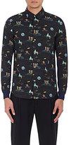 Undercover Men's Astronaut- & Planet-Printed Cotton Shirt