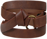 Yours Clothing Brown Knot Belt
