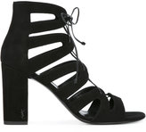 Saint Laurent gladiator block heel sandals - women - Leather/Suede - 37.5