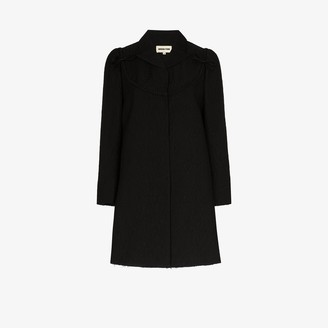 SHUSHU/TONG Textured bow detail cotton coat