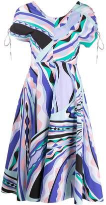 Emilio Pucci tied sleeve midi dress
