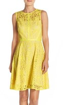 Donna Ricco Women's Lace Fit & Flare Dress