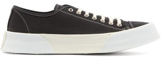 Ami Raised Sole Low Top Canvas Trainers - Mens - Black