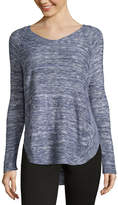 212 NY V Neck Marled Pullover Sweater