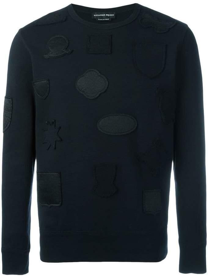 Alexander McQueen badge applique sweatshirt
