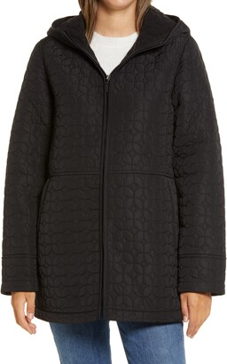 Gallery Fleece Lined Quilted Hooded Jacket