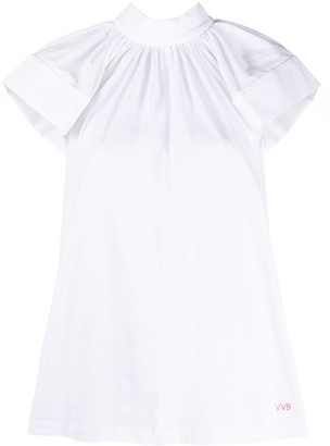Victoria Victoria Beckham Short Sleeve Blouse