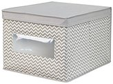 InterDesign Large Chevron Soft Storage Box, Taupe/Natural