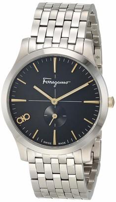 Salvatore Ferragamo Analog Quartz Watch with Stainless Steel Strap Silver 17.8 (Model: 7630030548420)