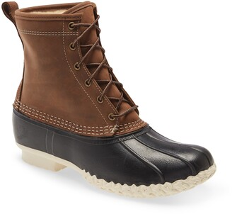 L.L. Bean Genuine Shearling Lined Bean Boot