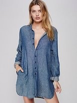 Cp Shades Flannel Tunic Solid by at Free People