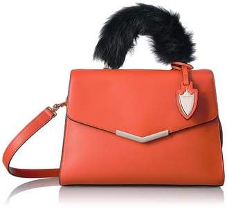 MONICA Time's Arrow Women's Ava Satchel with Fur Santa Sunset