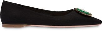 Miu Miu Pointed-Toe Ballerina Shoes