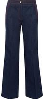 Tod's High-rise Wide-leg Jeans - Dark denim