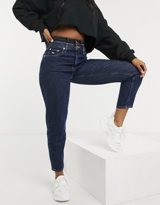 Tommy Jeans high rise mom jean in dark wash