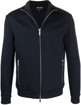 Giorgio Armani High-Neck Zip-Through Jacket