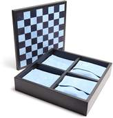 Smythson Grosvenor leather triple game set