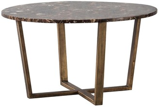 Hudson Living Emperor Round Coffee Table Marble - Brown