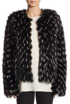 Elizabeth and James Piper Fox Fur Jacket