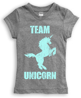 Urban Smalls Heather Gray 'Team Unicorn' Fitted Tee - Toddler & Girls