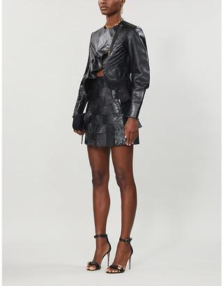 Saint Laurent asymmetric leather jacket