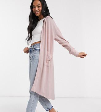 Micha Lounge longline cardigan with hood