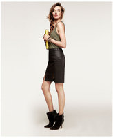 Express Snap Pencil Skirt - Black