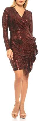 Alexia Admor Heidi Foiled Long Sleeve Mini Dress