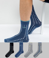 Jack and Jones Socks 4 Pack With Spot
