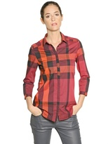 Burberry Checked Washed Cotton Shirt