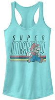 Nintendo Women's Super Mario Retro Throwback Ideal Racerback Graphic Tank Top