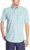 Arrow Men's Short Sleeve Medium Plaid Hamilton Poplin Shirt