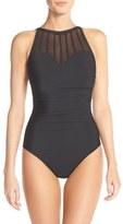 Magicsuit 'Anastasia' Mesh Neck One-Piece Swimsuit